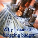 Making a blogging budget