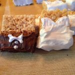 Bride and groom Rice Krispie treats