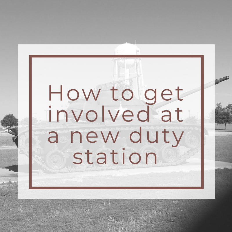 How to get involved at a new duty station