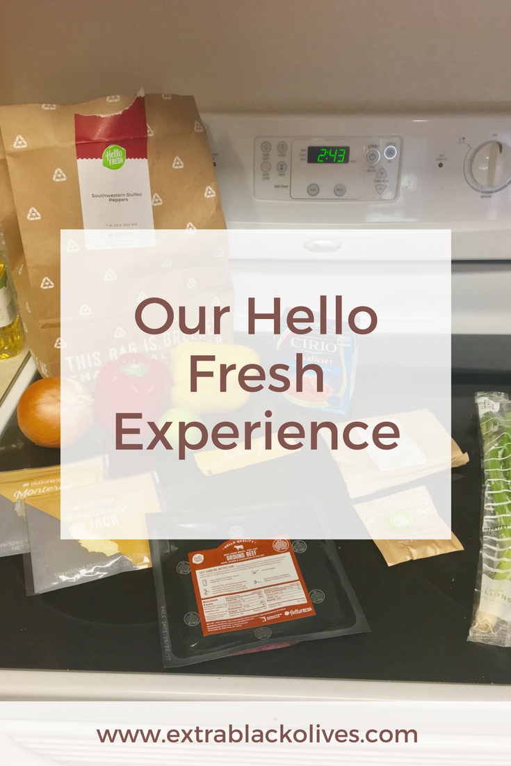 Our Hello Fresh experience