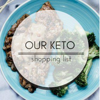 My keto grocery shopping list
